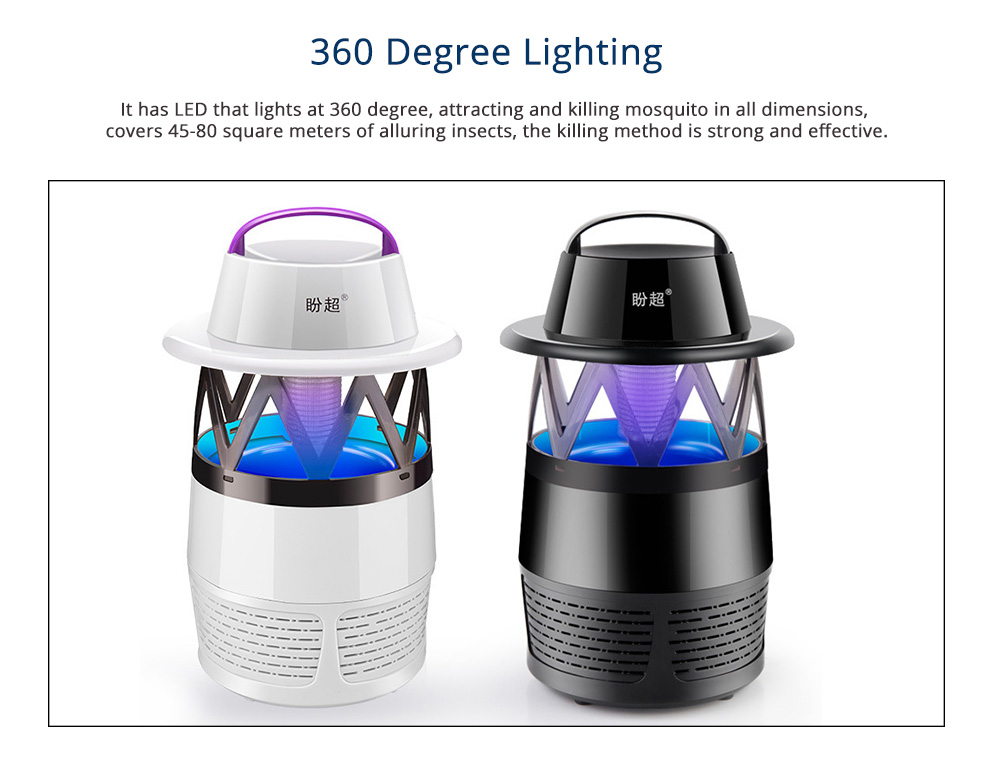 Electronic Mosquito Killer Lamp, Nonradiative Electric Bug Zapper With USB Power LED 1