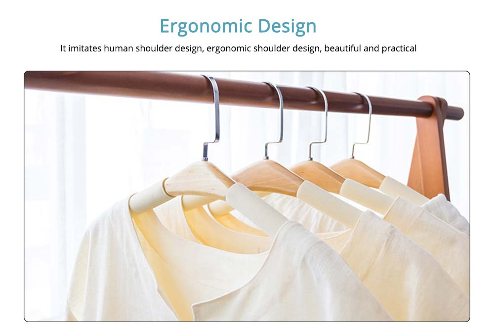 DIY Solid Wood Clothes Hanger with Sponge, Non-Slipping & Seamless Rack for Household Use 3