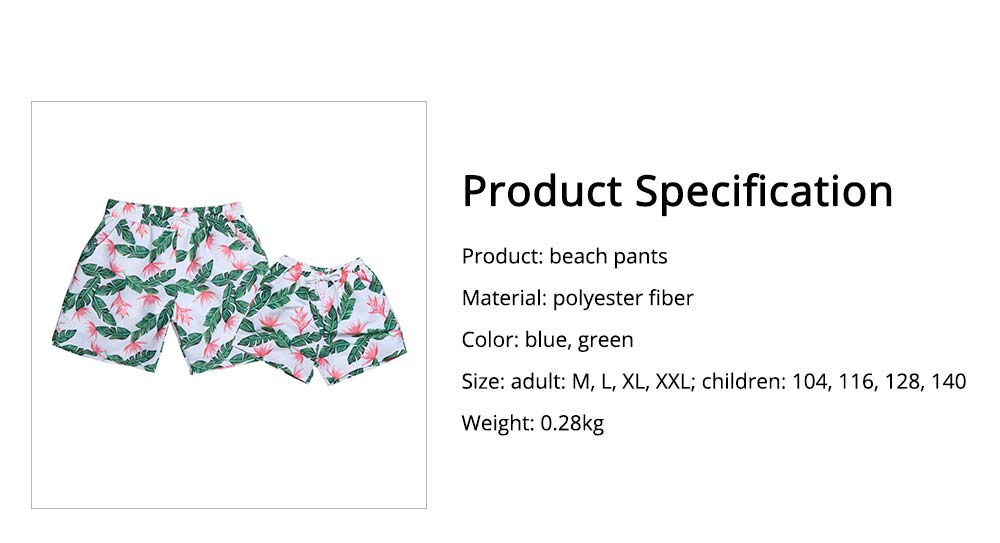 Mens Dense Flower Pattern Swimsuit, Swimsuit Beach Pants For Men and Children 13