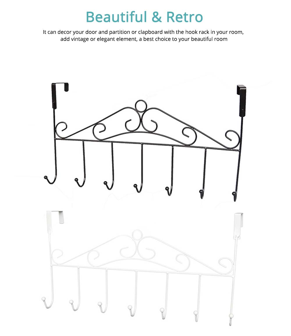 Metal Seamless Door Hook, Decorative Hook Organizer for Hat, Belt, Towel, Coat, Dress 4