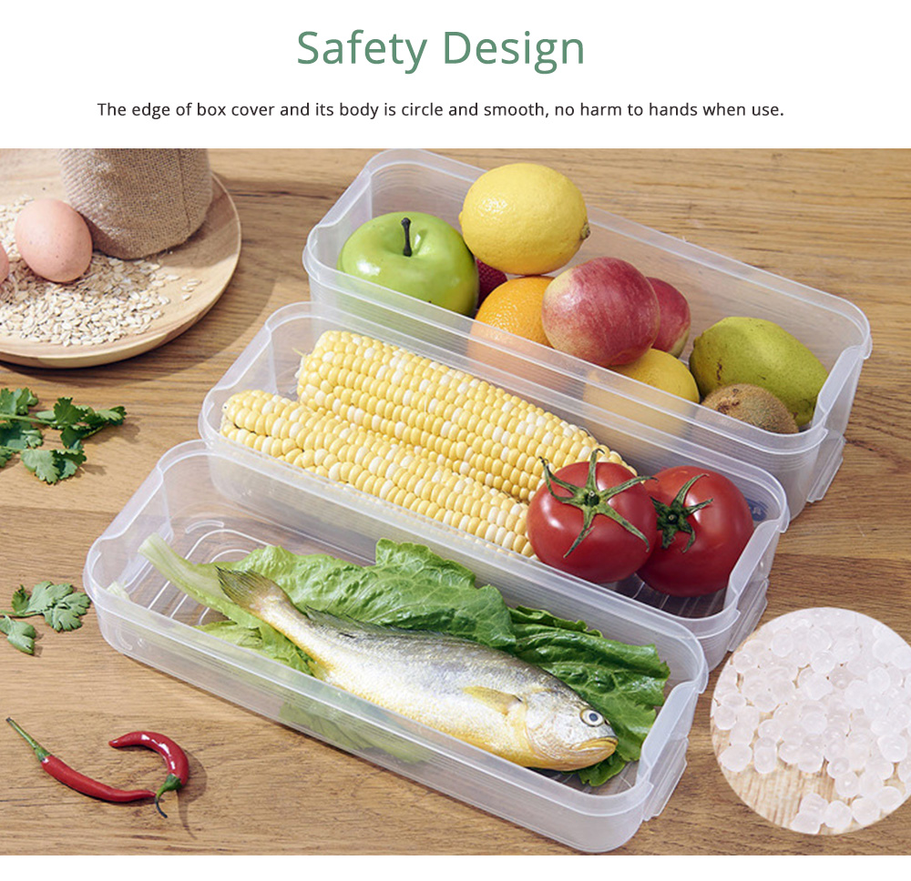 Japanese Style Food Crisper for Fridge Use, Multifunctional Fresh Container Storage Box with multi-layer 5