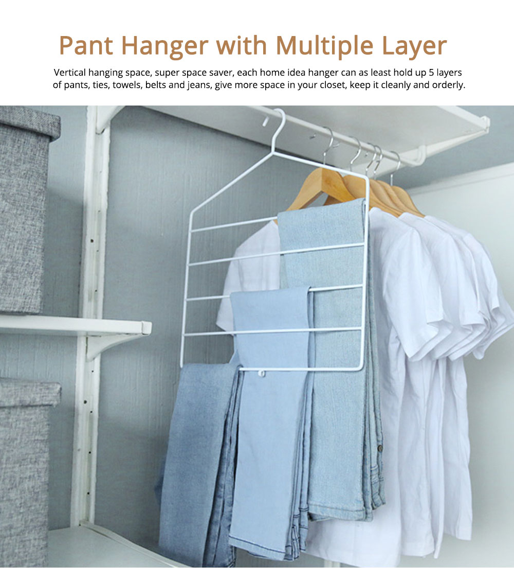 Multifunctional Pant Hanger with multiple layer, Innovative Clothes Rack for Domestic Use 0