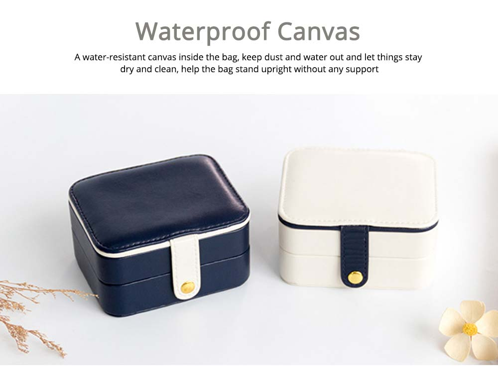 Small Jewelry Box With Lock, Traveling Storage Case Organizer With Mirror For Jewelry Accessories 4