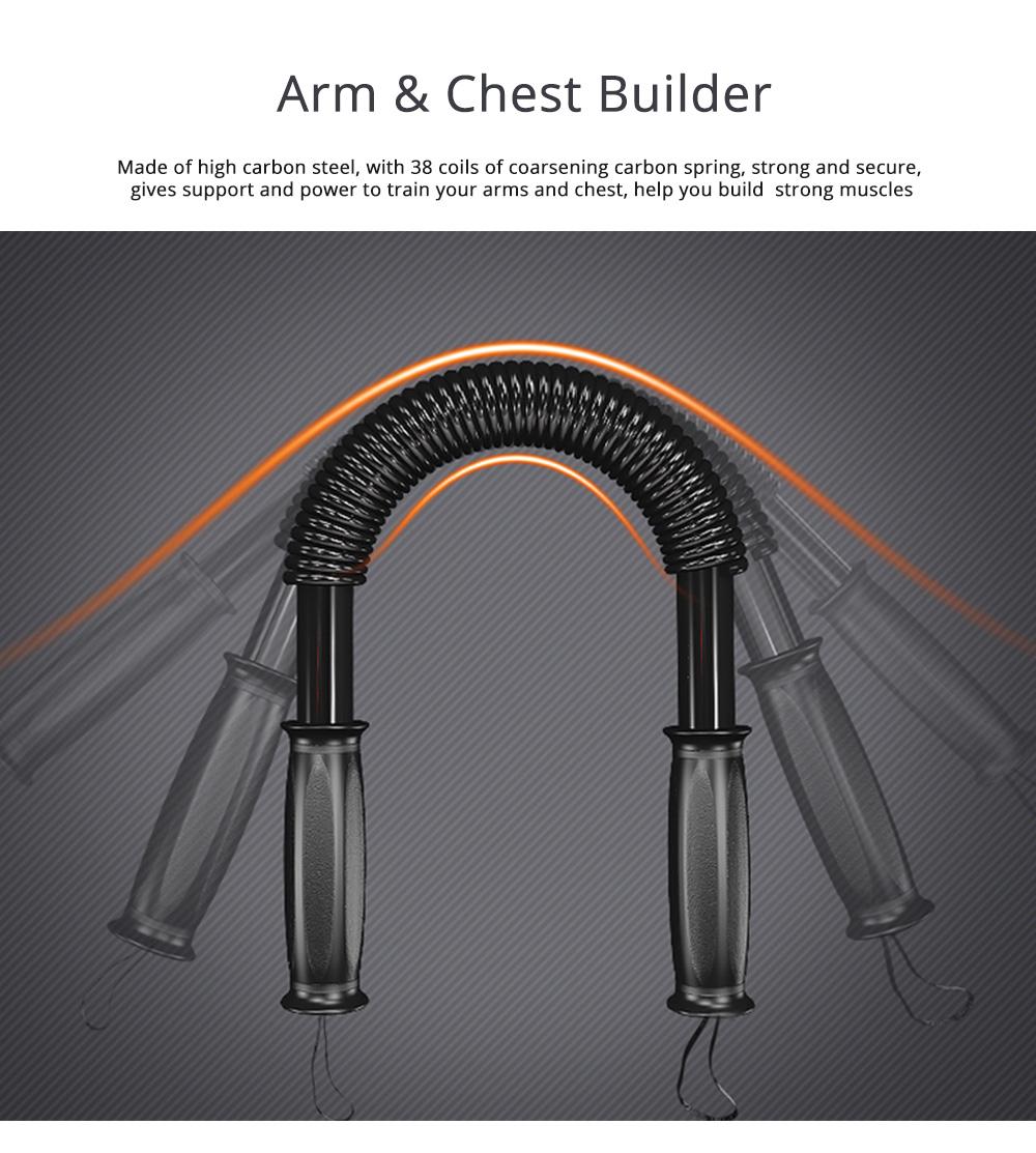 Men's Power Trister Bar, Arm & Chest Builder, Arm Strength Trainer Exerciser, 20~60KG 0