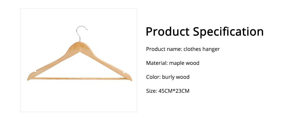 Solid Wooden Suit Hangers With Locking Bar, Sturdy Multifunctional Clothes Hanger For Wardrobe 7