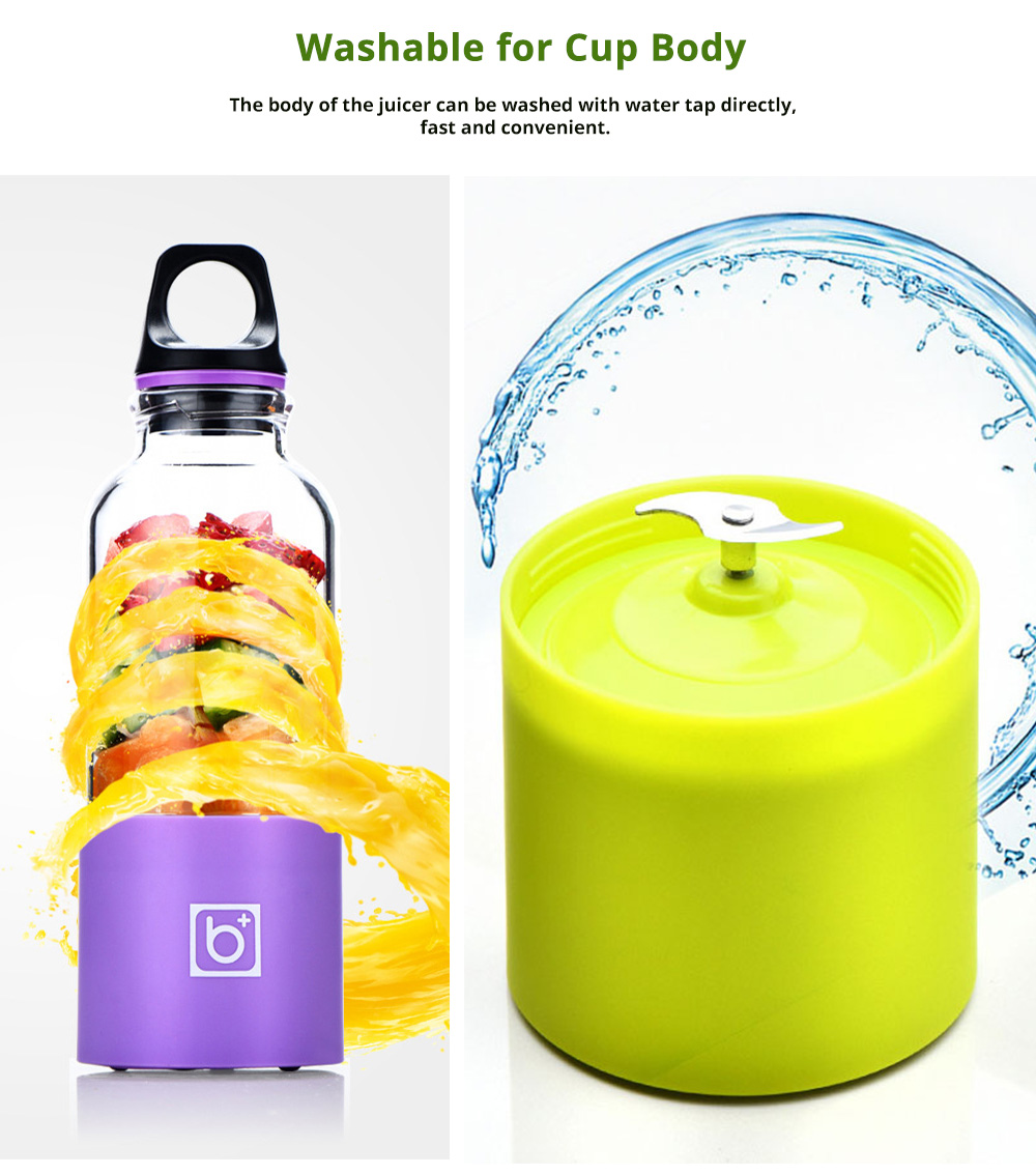 Portable Electric Juice Extractor, Mini Juicer Cup with USB Charging 5