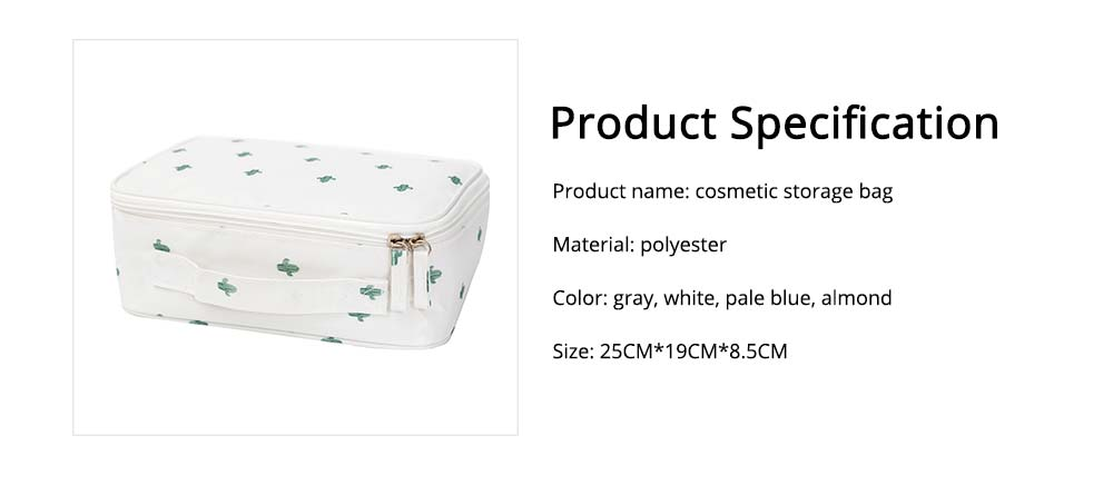 Nordic Style Waterproof Cosmetic Storage Bag with handle and zipper for Traveling & Domestic Use 8