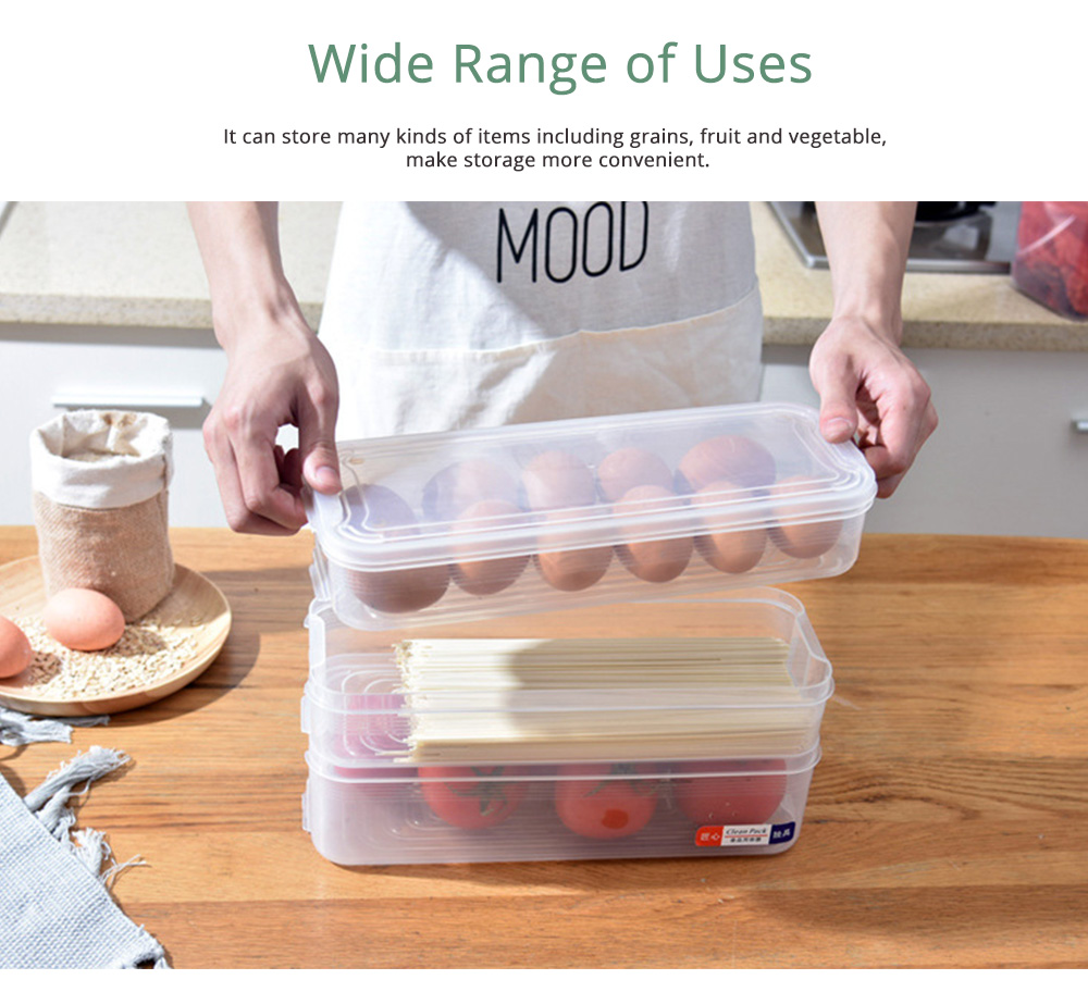 Japanese Style Food Crisper for Fridge Use, Multifunctional Fresh Container Storage Box with multi-layer 3