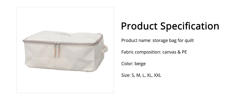 Japanese Style Thickening Quilt Storage Bag, Canvas Clothes Storage Bag with Zapper 7