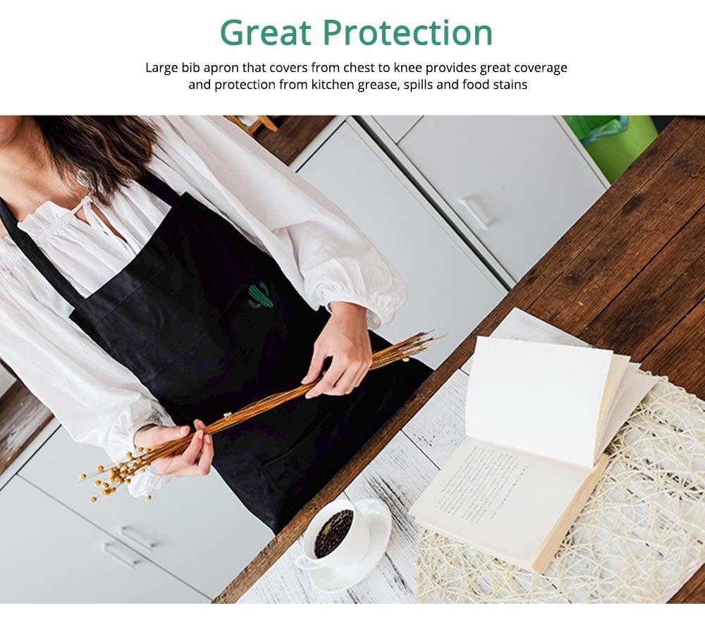 Nordic Style Sleeveless Cotton Apron, Innovative Black Bib for Kitchen & Garden 2