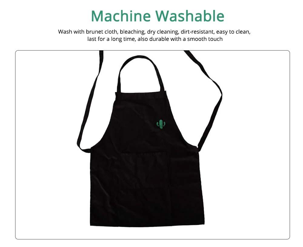 Nordic Style Sleeveless Cotton Apron, Innovative Black Bib for Kitchen & Garden 4