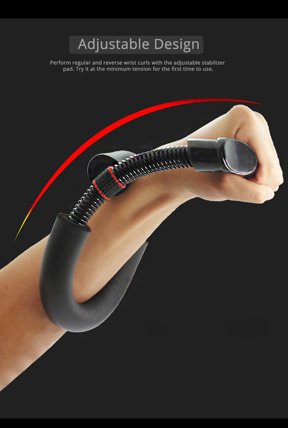Forearm Strengthener Wrist Exerciser, Hand Developer Strength Trainer With Iron Spring 2
