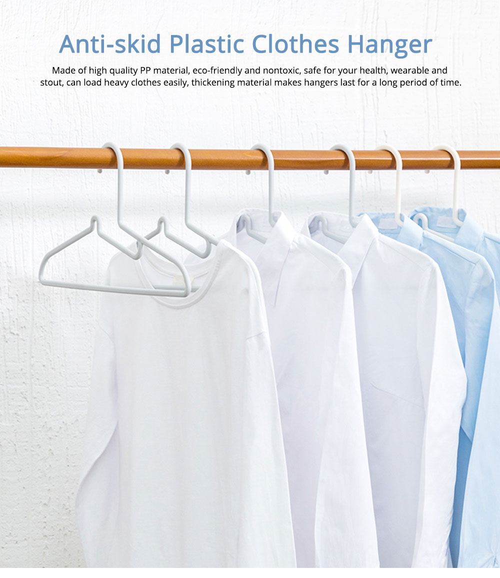 Anti-Skid Plastic Clothes Hanger, Multifunctional Seamless Clothes Rack for Domestic Use 0