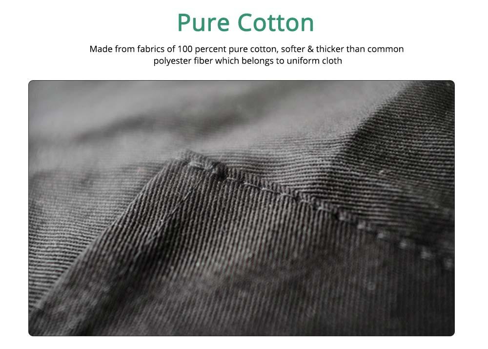 Nordic Style Sleeveless Cotton Apron, Innovative Black Bib for Kitchen & Garden 1