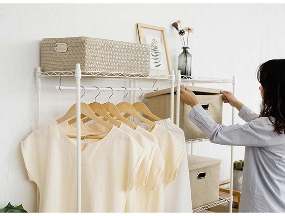 Solid Wooden Suit Hangers With Locking Bar, Sturdy Multifunctional Clothes Hanger For Wardrobe 6