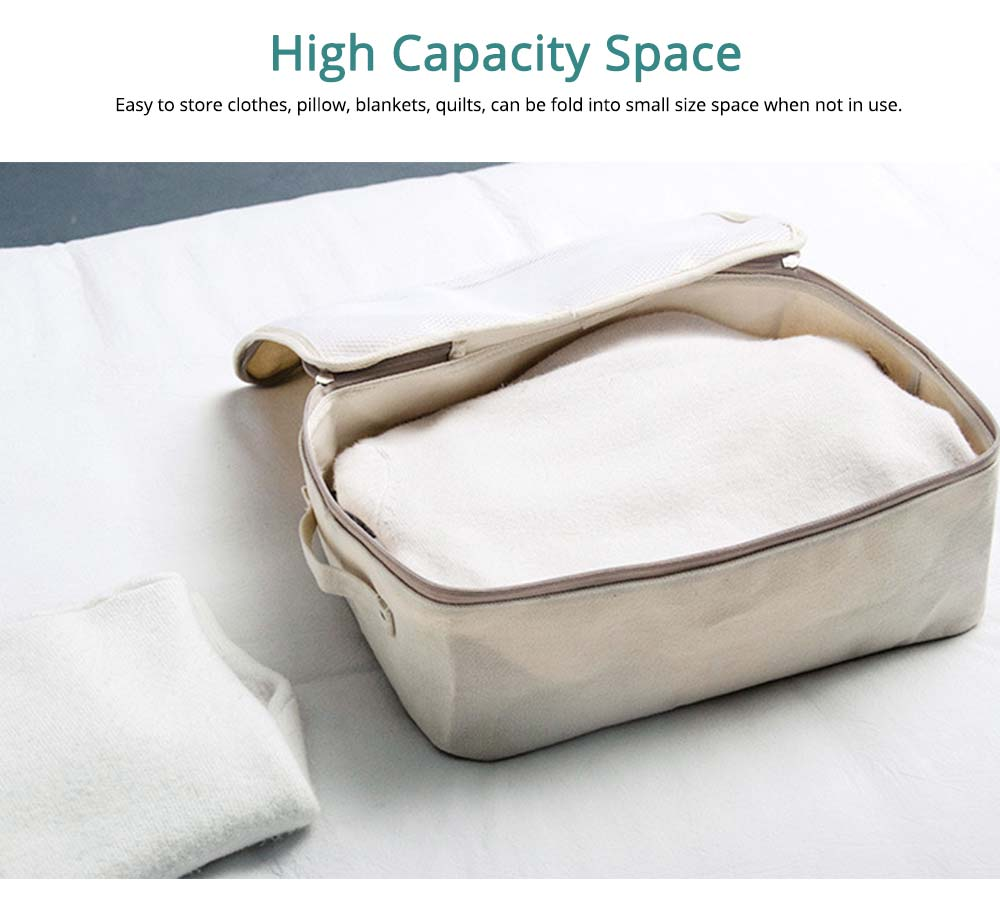 Japanese Style Thickening Quilt Storage Bag, Canvas Clothes Storage Bag with Zapper 4