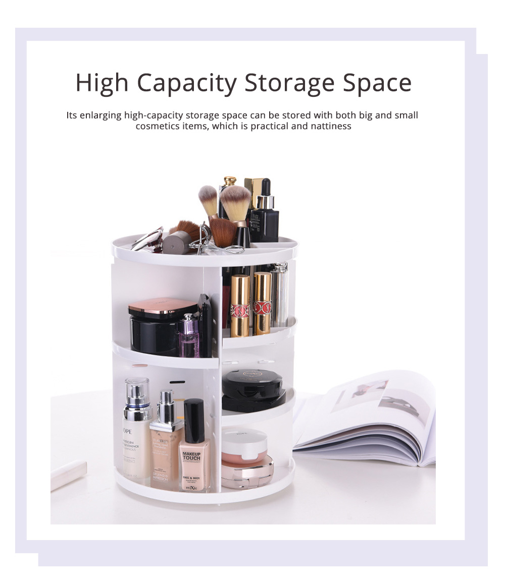 Plastic Cosmetics Case with 360 Degree Rotation, Storage Shelf for Skin Care Products 2