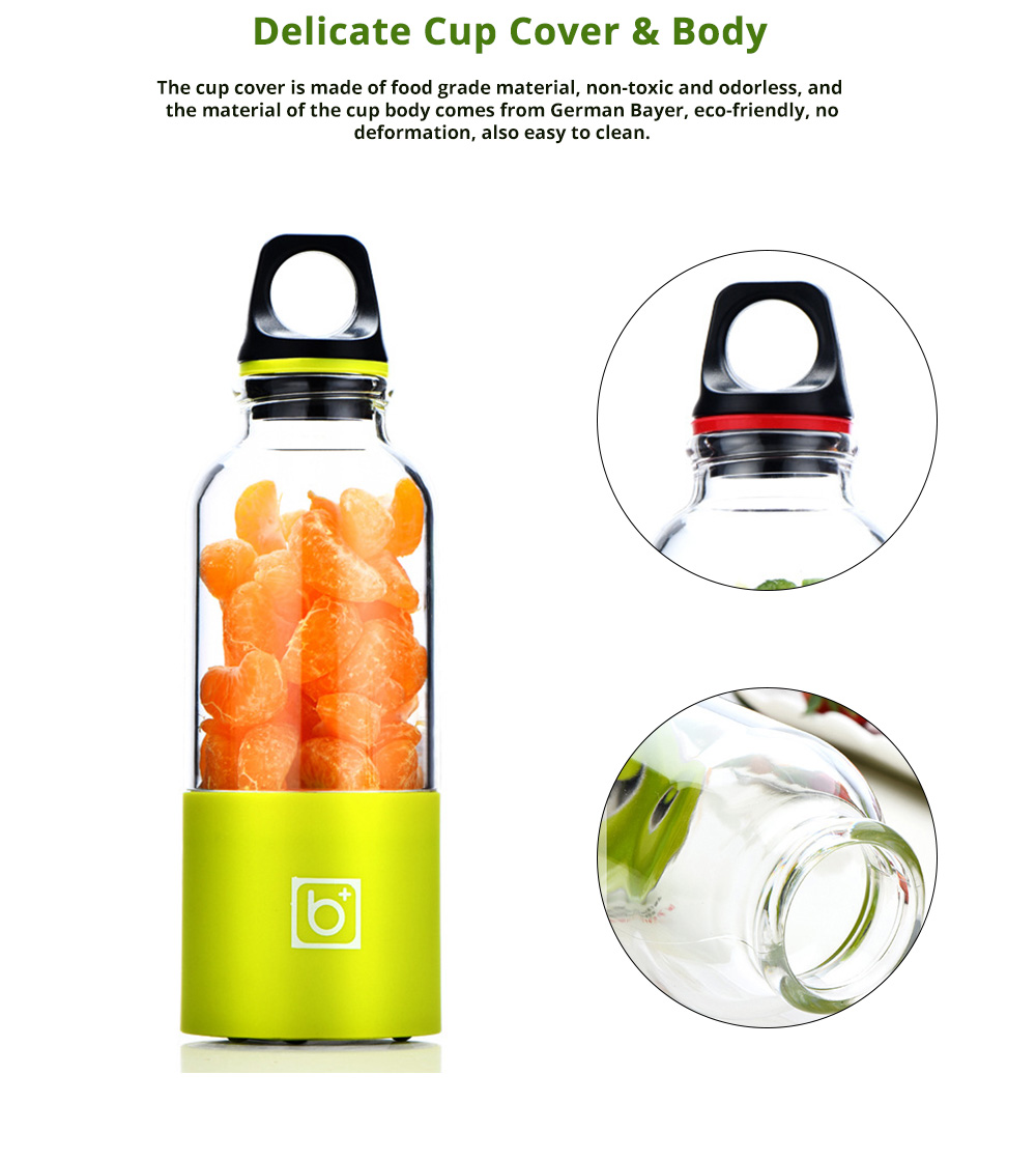 Portable Electric Juice Extractor, Mini Juicer Cup with USB Charging 1