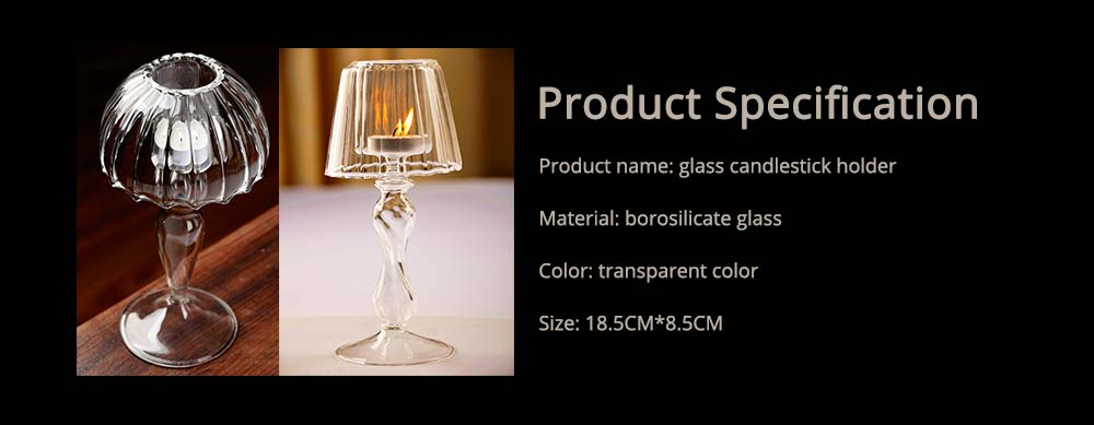 Stylish Glass Candlestick Holder with European Style for Wedding, Party, Table Decoration 6