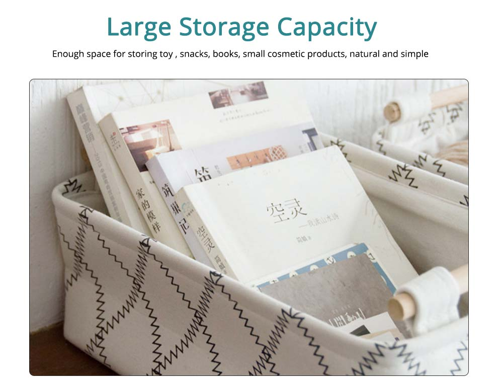 Fashionable Canvas Storage Box with Handle, Collapsible Storage Bin for Laundry, Toy Organizer 1