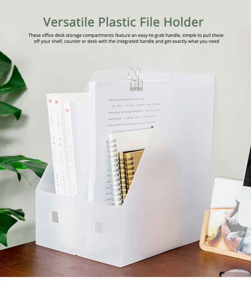 Japanese Style Plastic File Holder, Minimalist File Storage Box 0