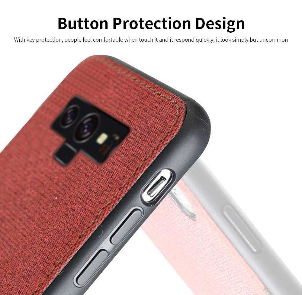 For Samsung Galaxy Note 9 Protective Case, Custom Shockproof Anti-fall Cloth Phone Shell Cover 6