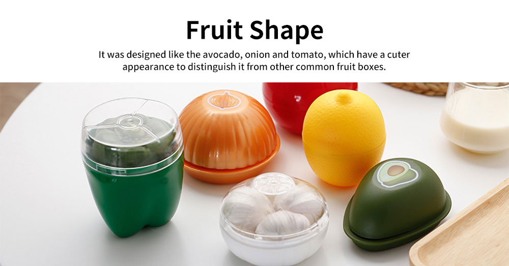 PP Food Preservation Boxes, Fruit and Vegetable Shaped Containers 3