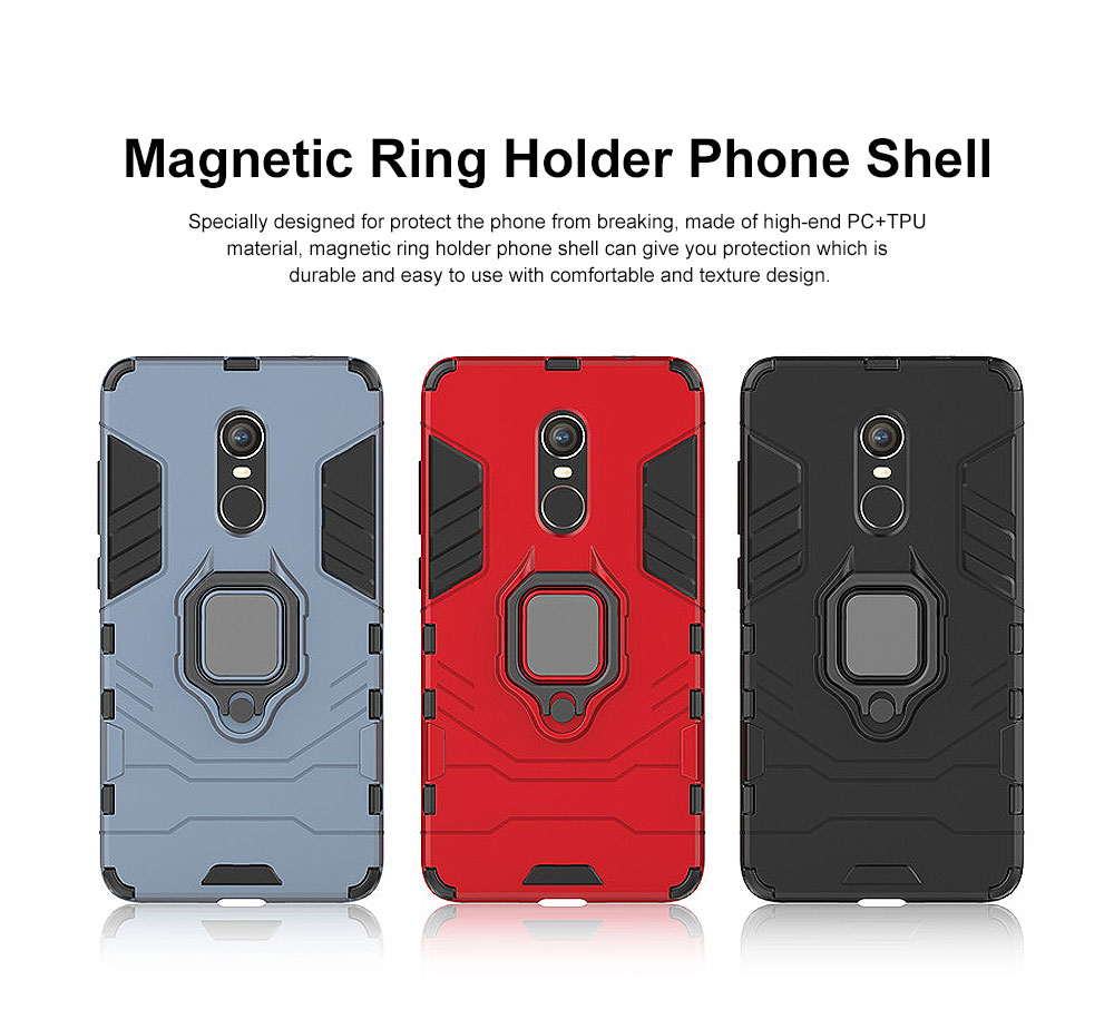 Phone Case With Ring Grip, Anti-Fall Smart Phone Shell For XIAOMI 0