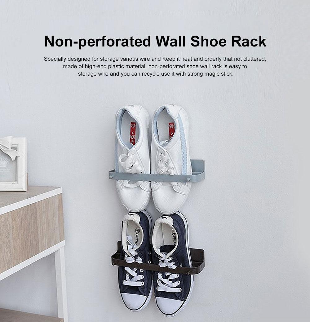 Wall-mounted Shoe Rack, Multifunctional Non-perforated Paste Hanging Rack 0