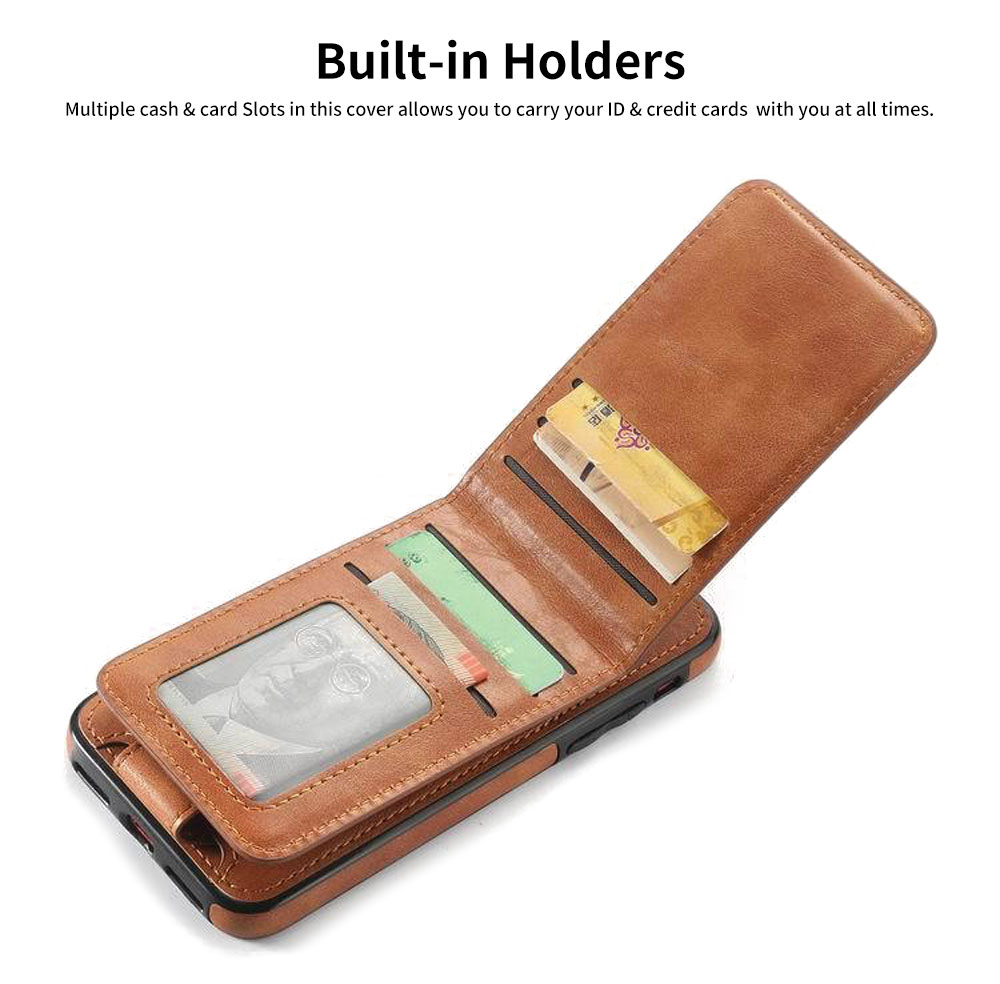 Detachable Leather Wallet Case for iPhone 7/8 Plus, iPhone X, High Quality Two-in-one Phone Case 4