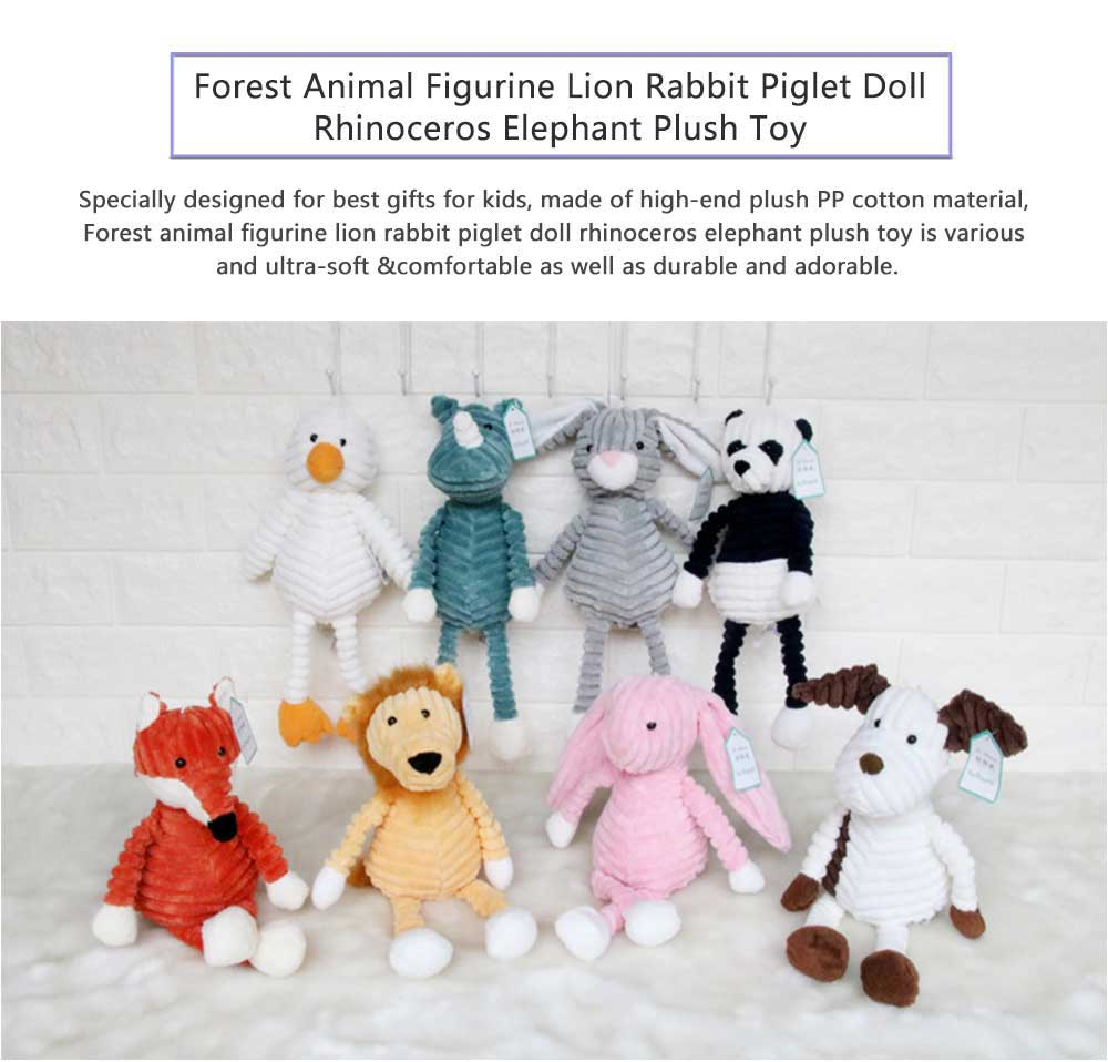 Forest Animal Figurines, Jungle Animal Plush Toys For Baby & Toddler 0