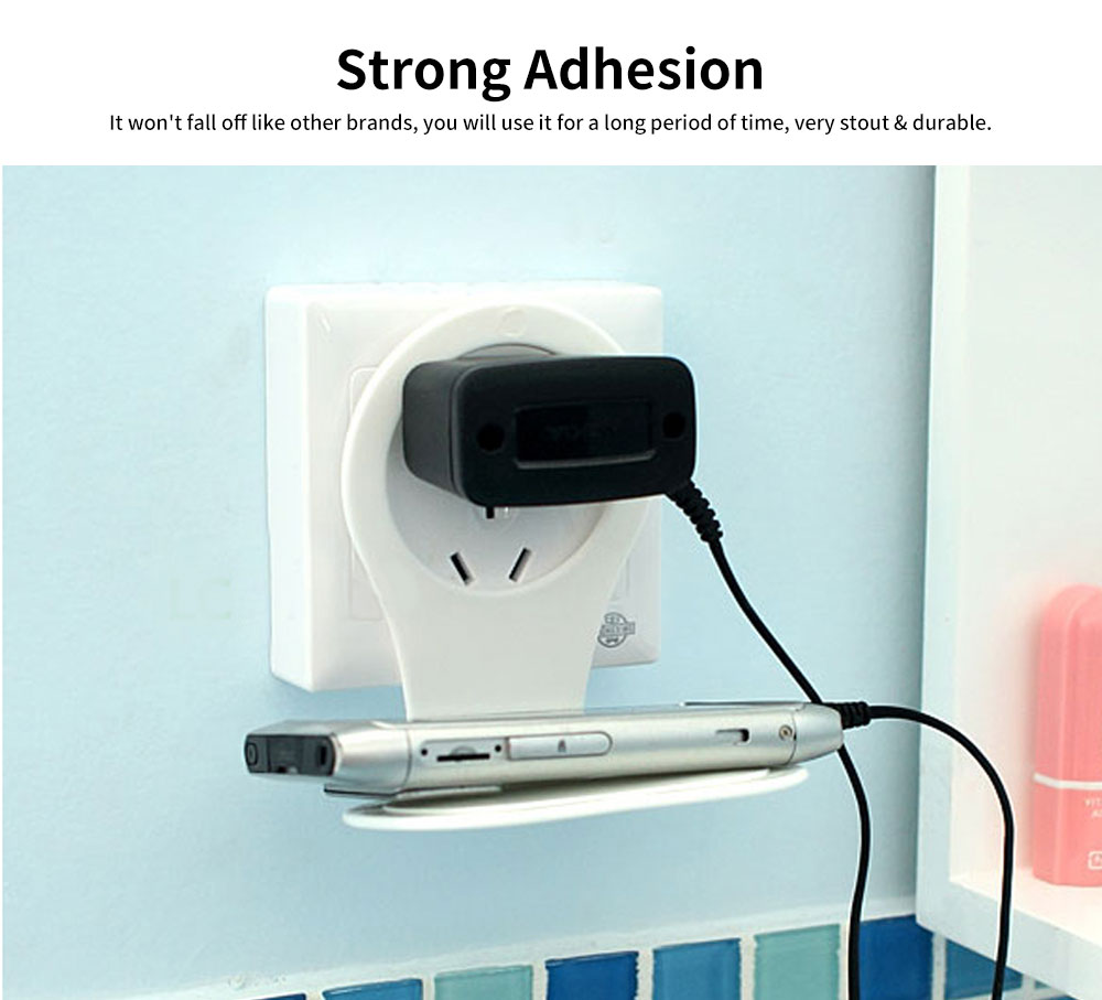 Wall Mounted Charging Stations for Electronics, Foldable Plastic Charging Rack Holder For Cell Phone 3