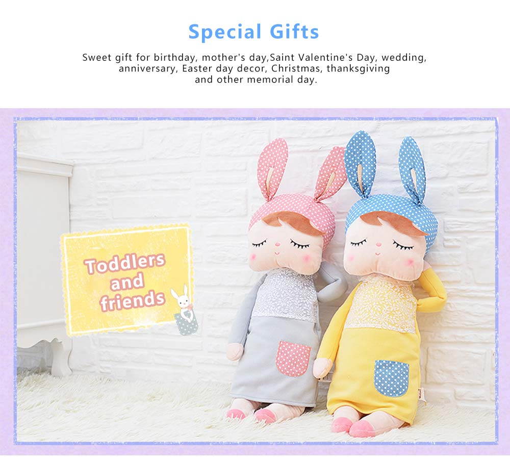 Metoo Plush Rabbits Angela Girl Cuddy Doll, Dreams Appease Doll Gifts for Toddlers 1
