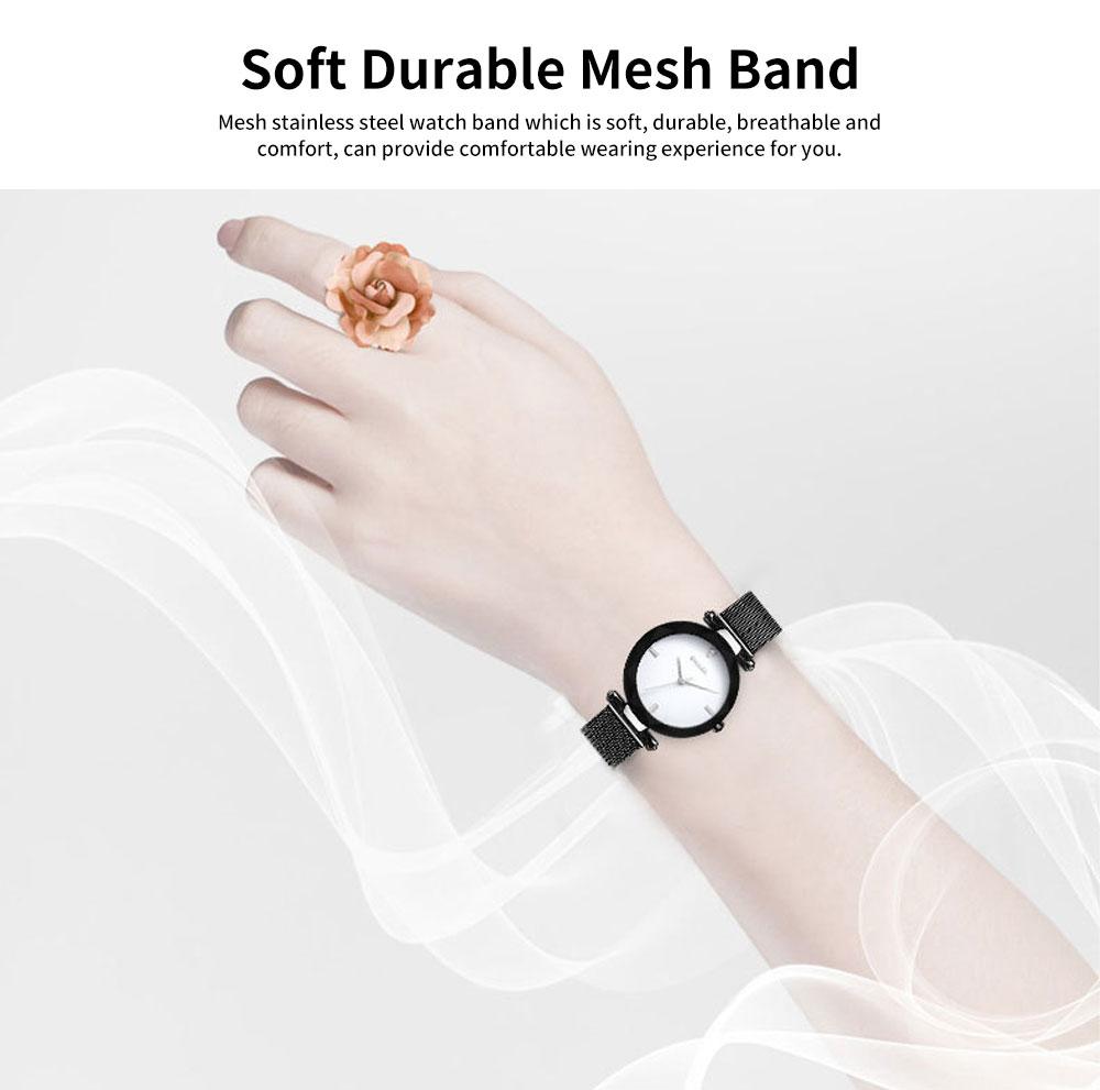 Women's New Fashionable Quartz Watch Korean Style Metal Strap Watch 4