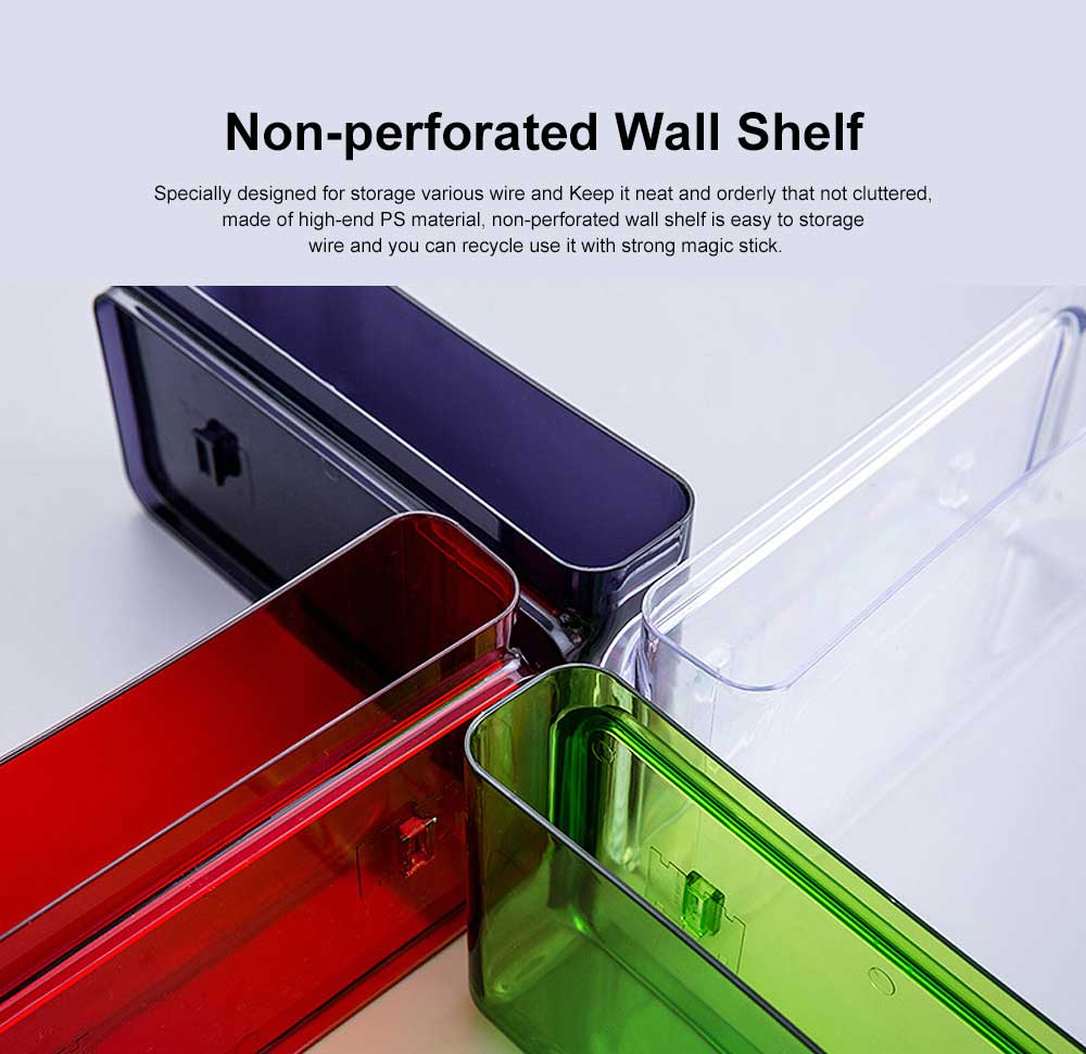 Multifunctional Paste Bedside Hanging Rack, Non-perforated Wall-mounted Shelf 0