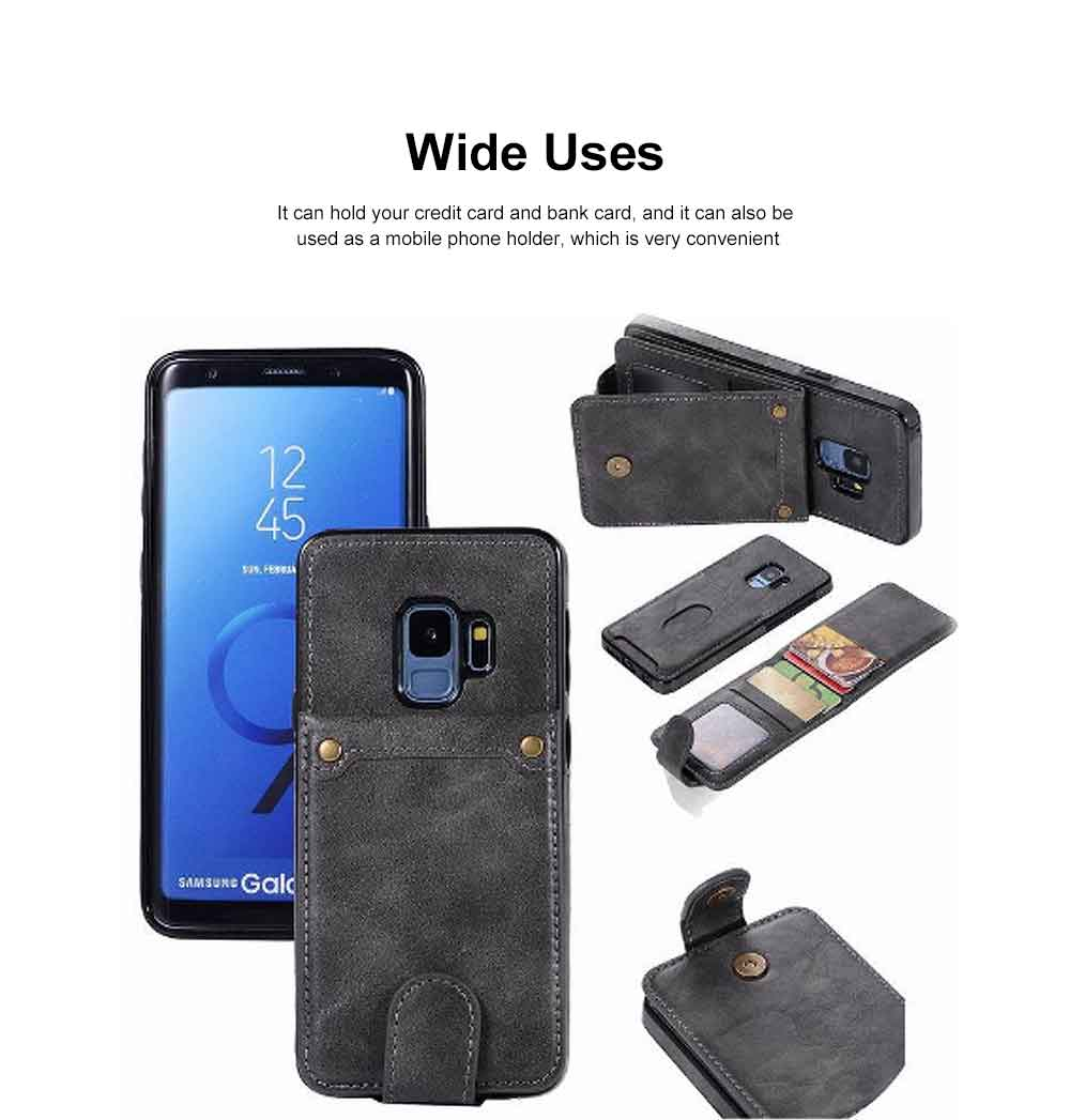 Leather Phone Cover, Detachable Two-in-one Split Mobile Phone Protective Shell for S8, S9, NOTE8, iPhone 3