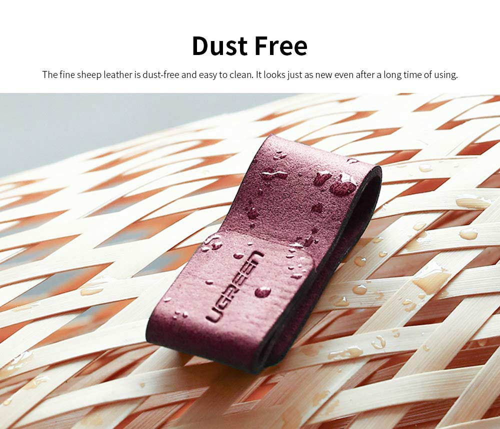 Leather Cable Management Buckle, Magnetic USB Cable Protector for Charging Lines or Earphones 6