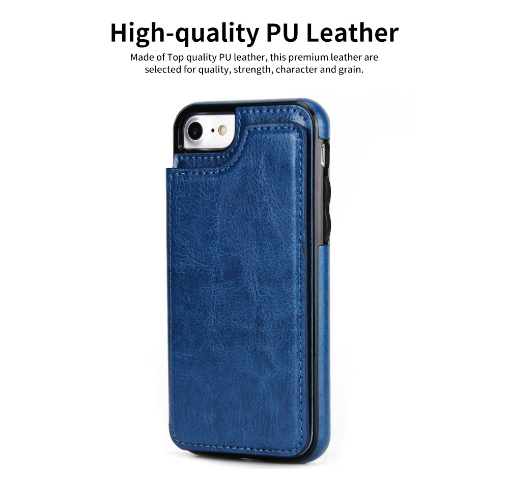Multifunctional Leather Phone Case with Card Slot, Smart Phone Cover Case for iPhone XR, Max 7/8 7