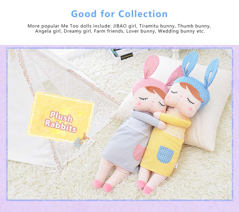 Metoo Plush Rabbits Angela Girl Cuddy Doll, Dreams Appease Doll Gifts for Toddlers 2