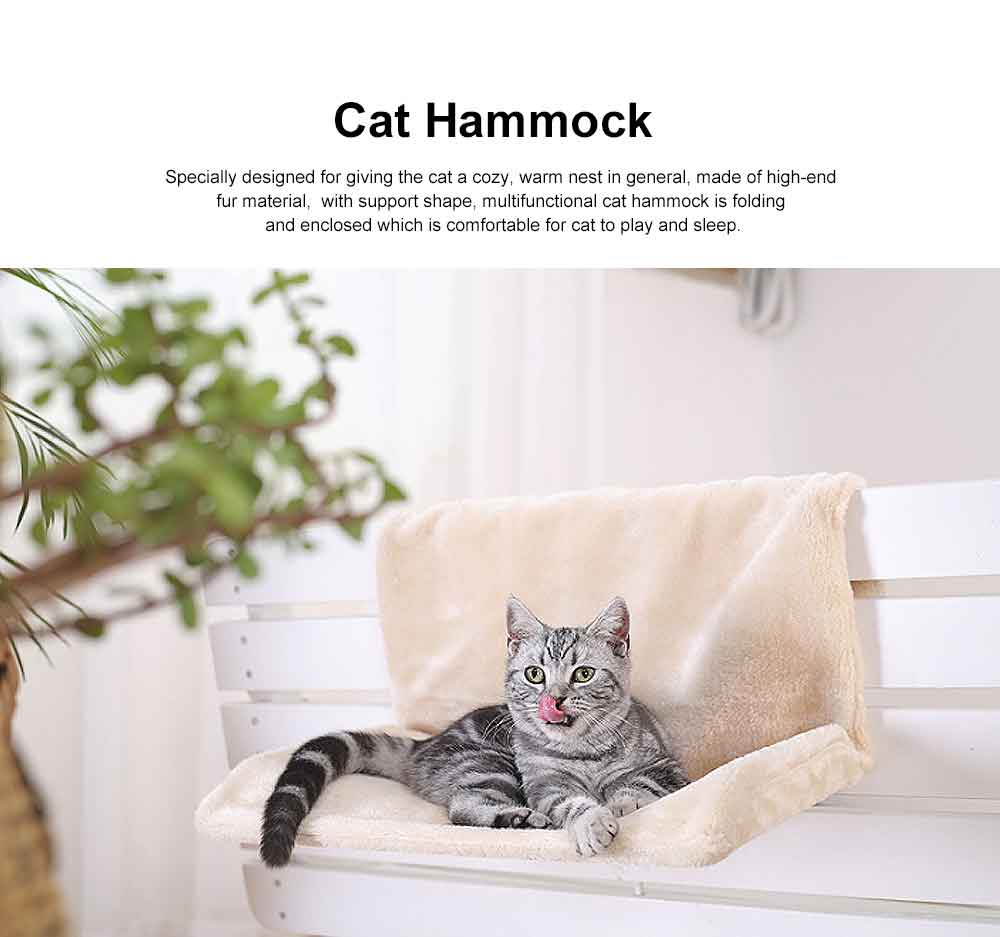 Multifunctional Cat Hammock with Support, Portable & Removable Cat Mat Hanging Chair 0