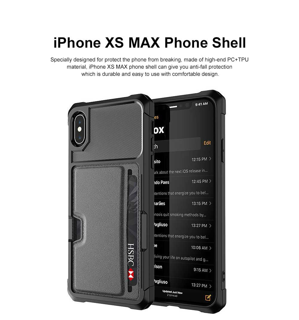 Black Panther Phone Case for iphone XS Max, Car Magnetic Card Case Phone Shell 0