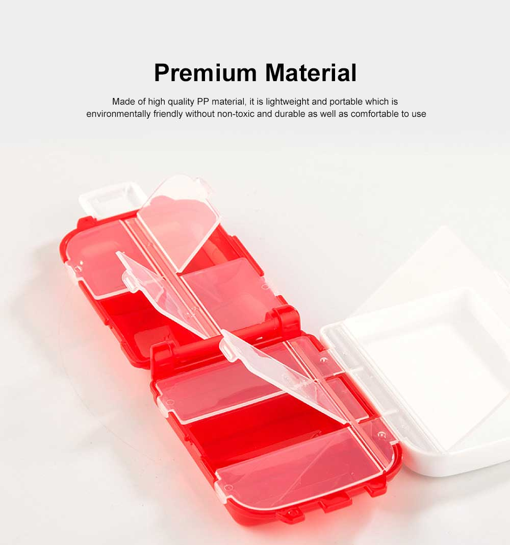 Christmas Pill Boxes, 3-Layer 8-Grid Mini Weekly Pill Case, Pack of 2 1