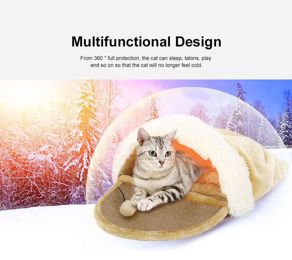 Multifunctional Cat Litter with Arch Design, Durable & Convenient Storage Cattery for Four Seasons Universal 3