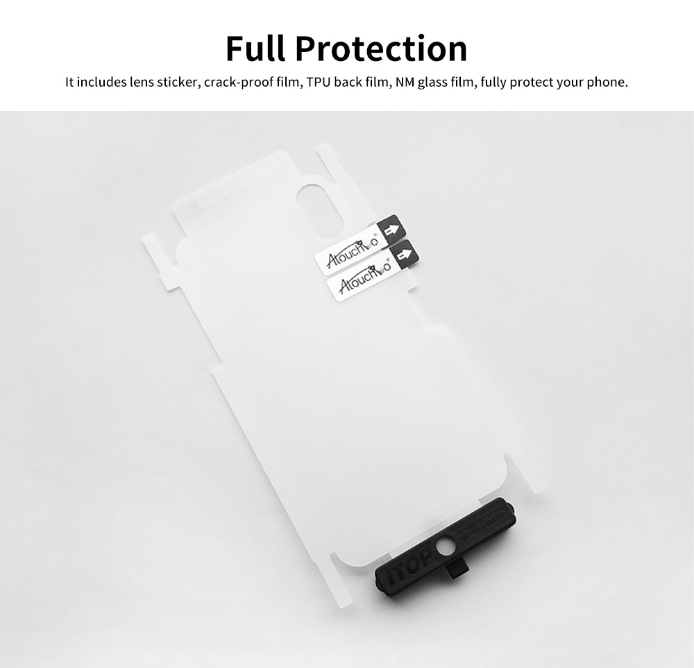 Heavy Duty Case with Soft TPU Bumper for iPhone, Full Protective Clear Phone Case 9