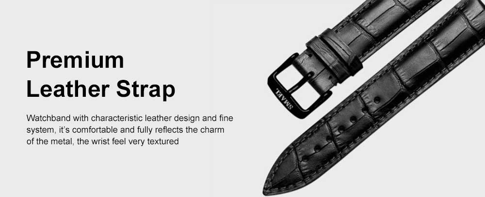 Men's Quartz Watch With Leather Band, Texture 30 Meters Water-Poof Outdoor Sports Watch 2
