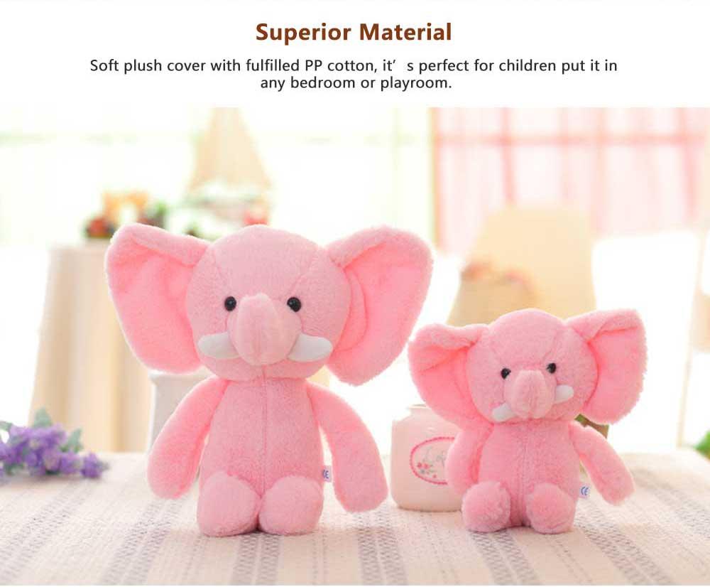Elephant Stuffed Animal for Baby, Cute Rabbit Doll with Long Ears  1