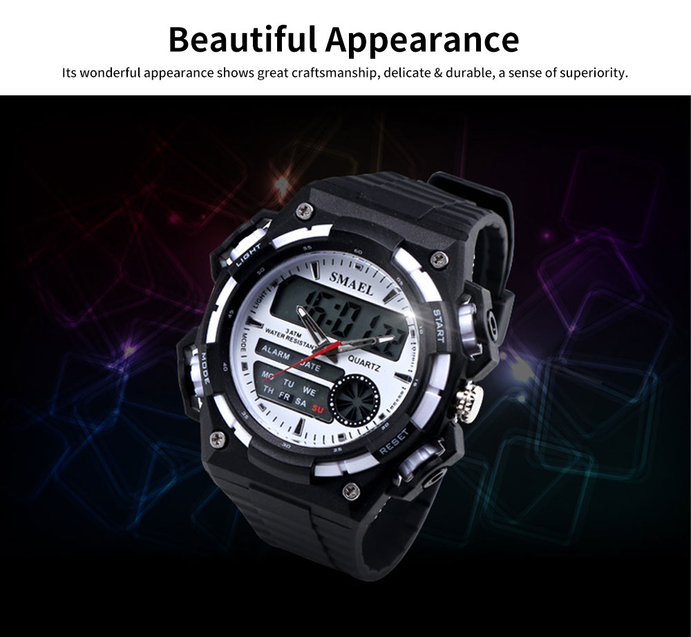 Men's Dual-replay Sport Watch, Waterproof & Fashionable Watch with Strap for Outdoor Use 2