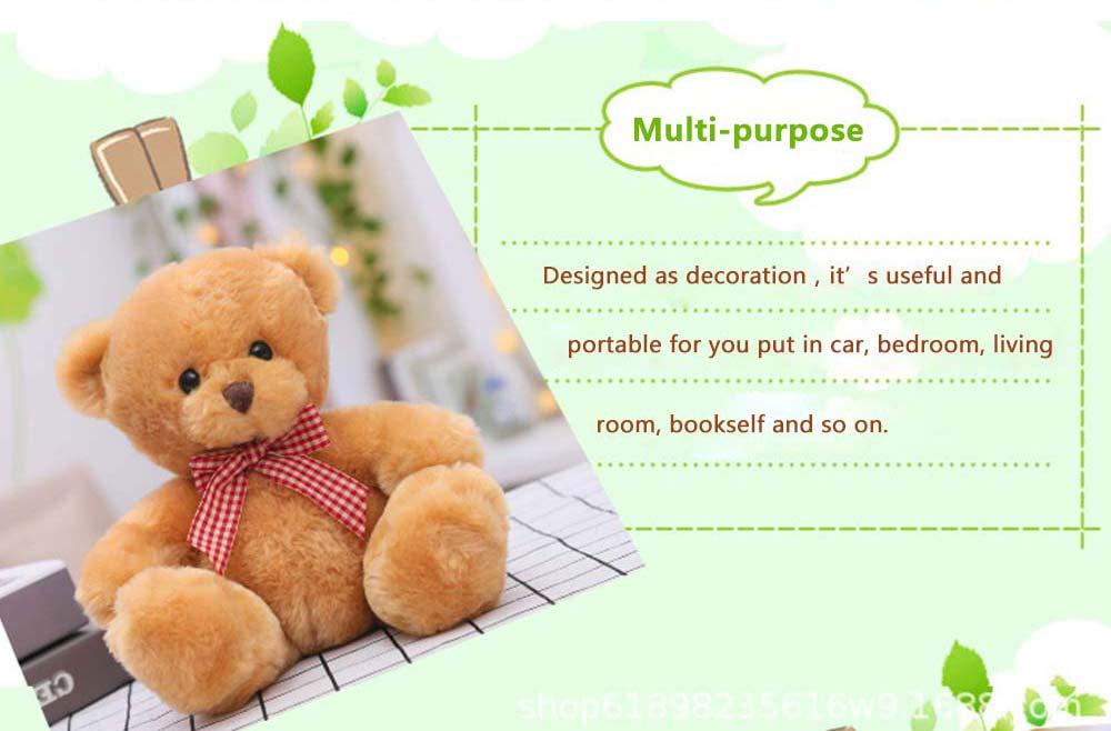Teddy Bear Plush Toy, Girls Children Birthday Gift, Company Wedding Gift Doll 2