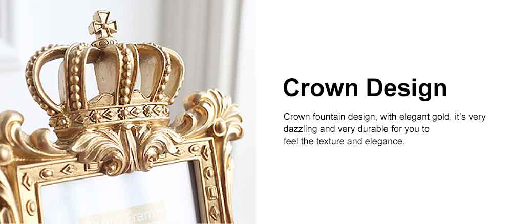Crown Shaped Picture Frames, Rectangle Bachelor Style Wall Hanging/Desktop Photo Frame 2