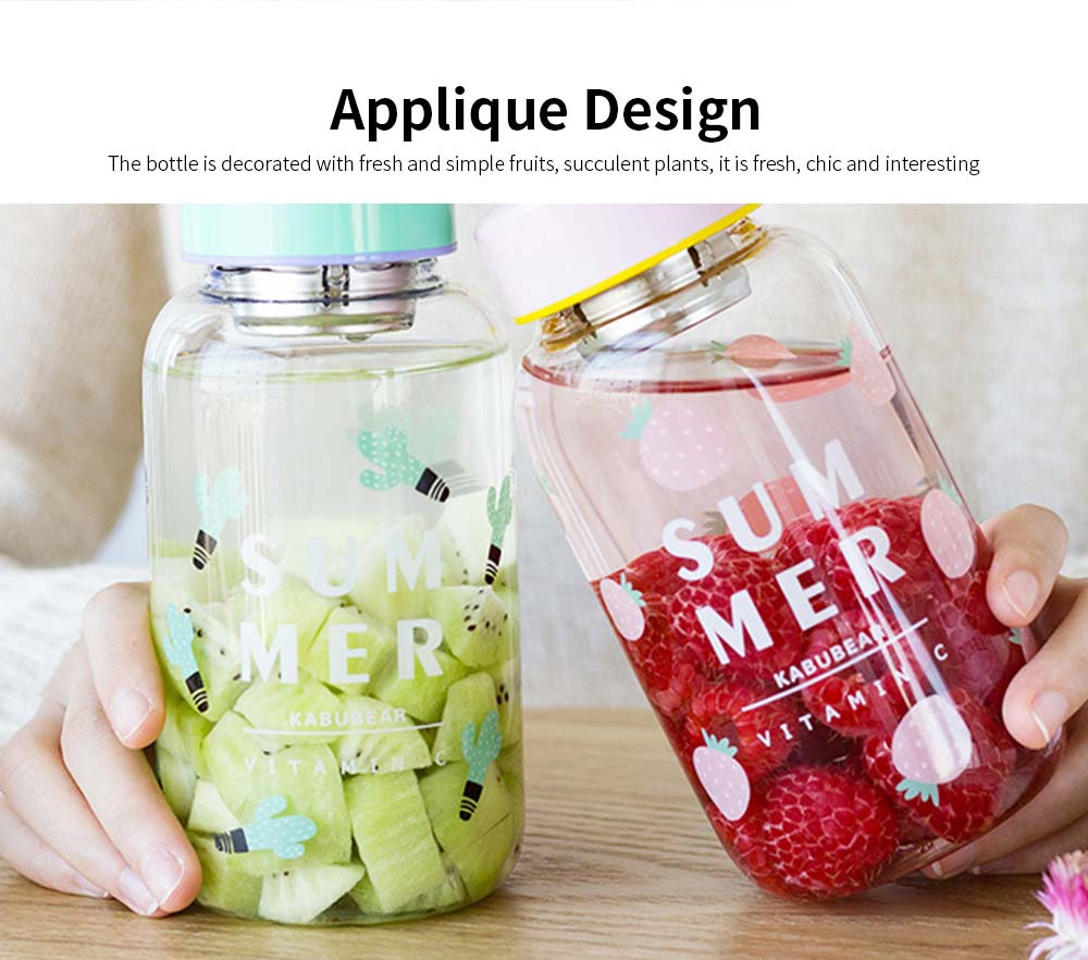 Fruit Juice Glass Bottles, Glass Bottle with Tea Partition 4
